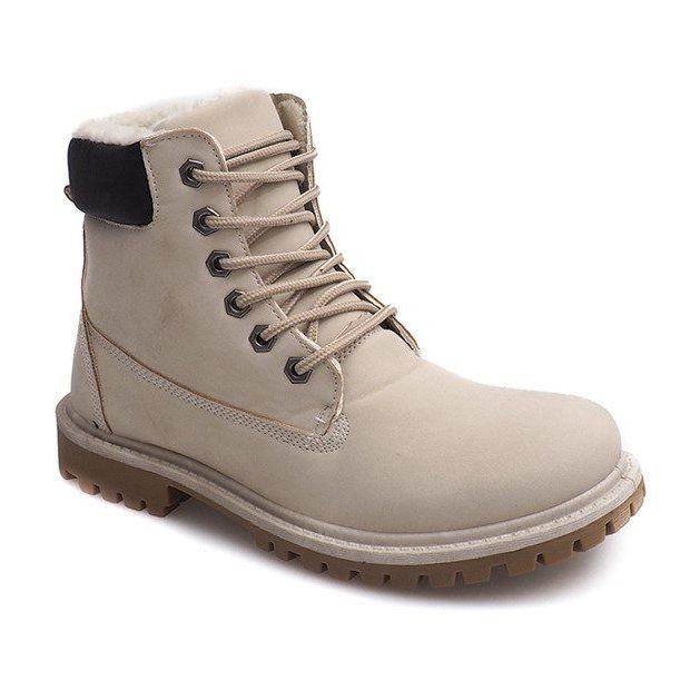 Jesienne Timberki Trapery B788 Bezowy Boots Timberland Boots Shoes