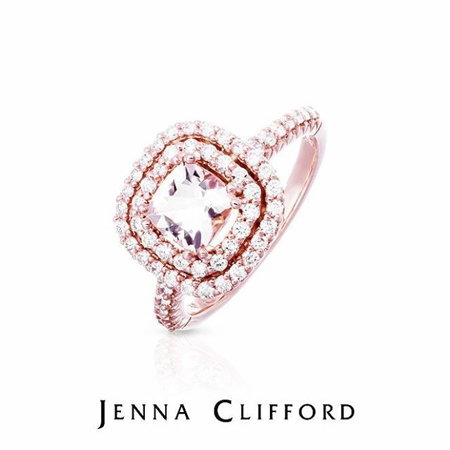 Jenna Clifford rose gold engagement ring.