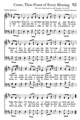 Triple the Scraps: {HSCRC13} Hymn #6, Come, Thou Fount of Every Blessing
