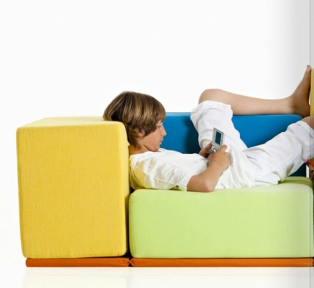 Contemporary Kid's Sofa design for Interior Furniture, Set Up Collection by Baltus