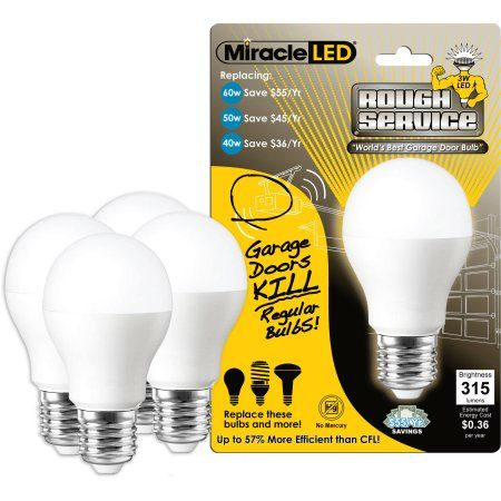 New Miracle LED W Rough Service Garage Door and Ceiling Fan Light Long Life Energy Saver