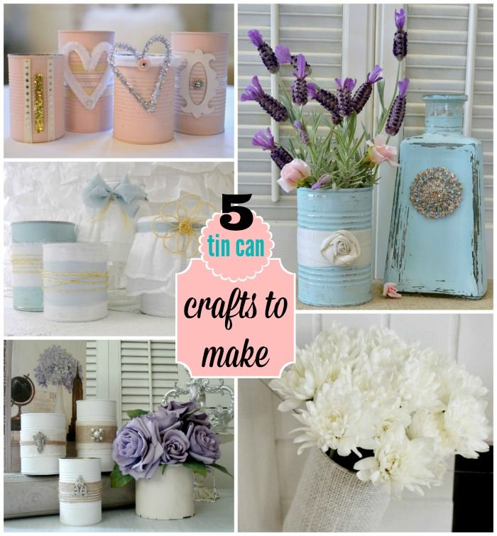 5 Tin Can Crafts to Make - Home Decor Accents   Upcycle - Recycle - Repurpose