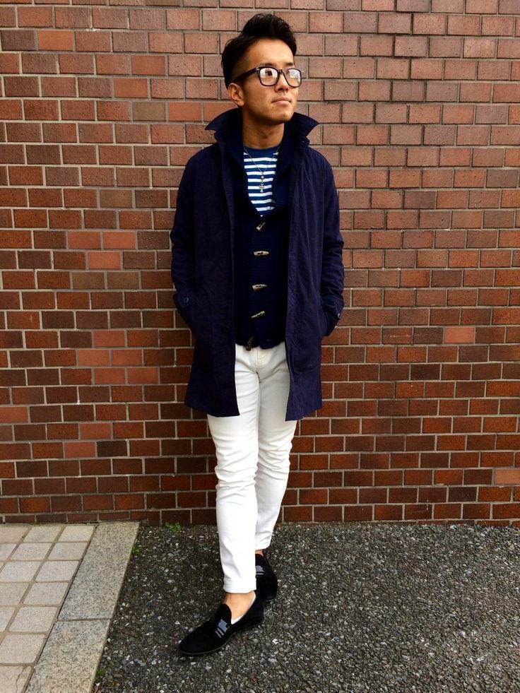 SHIPSのステンカラーコートを使ったKenta Kondoさんのコーディネートです。│