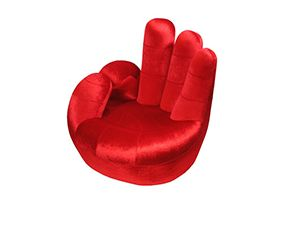 Awesome Hand Shaped Chair Red   Modern Furniture And Lighting | Modern Furniture  And Lighting