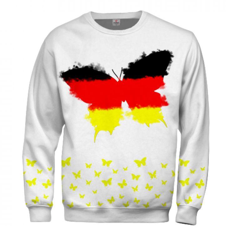 Buy German Butterfly Sweatshirt | Worldwide Shipping
