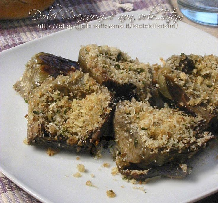 I Carciofi gratinati al forno sono un contorno fresco e gustoso, facile, veloce da preparare, molto saporita, con una crosticina croccante, davvero sfiziosa