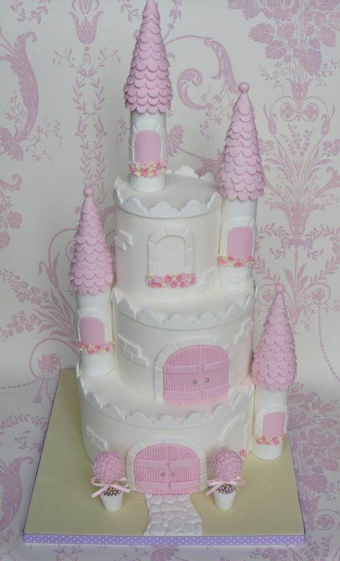 Princess Castle Cake - Three tier princess castle cake, inspired by a design from Royal Bakery