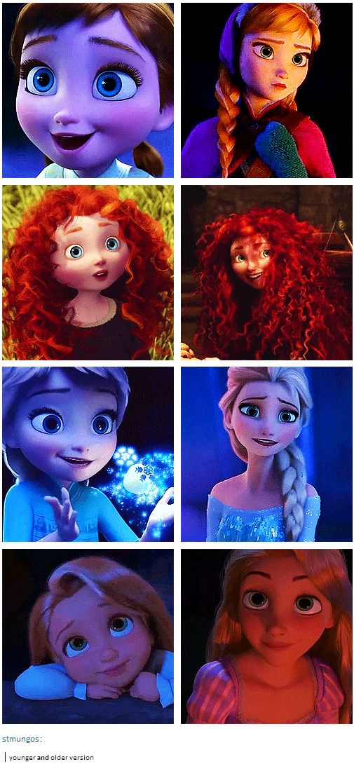 I love that a lot of the more modern Disney films show their leads as children. I LOVE THEIR LITTLE SQUISHY FACES.