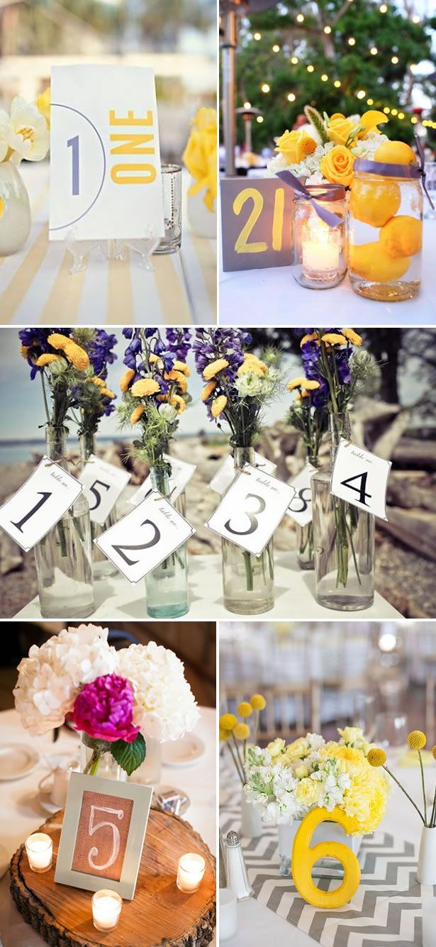5 Table Number Ideas We Love - WeddingWire: The Blog | WeddingWire: The Blog