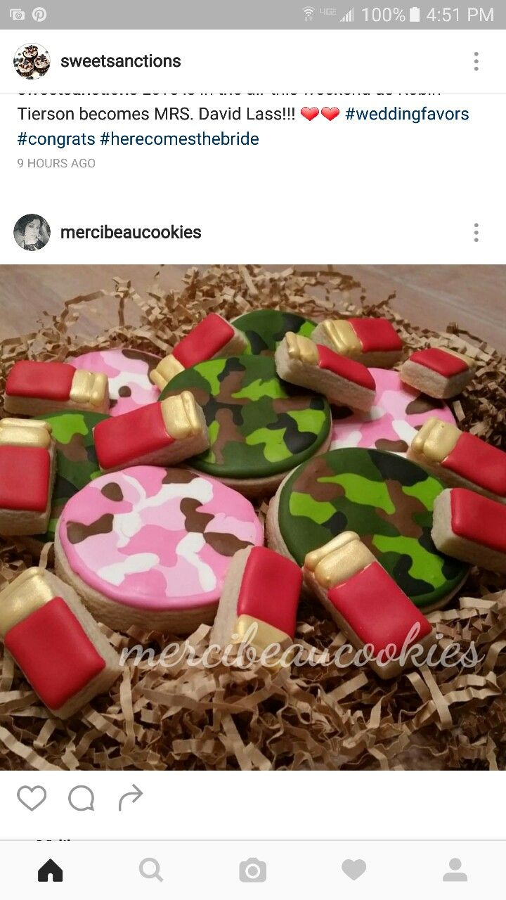 Camouflage cookies