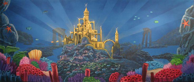 Backdrop Rentals Undersea Castle Backdrop S3339 In