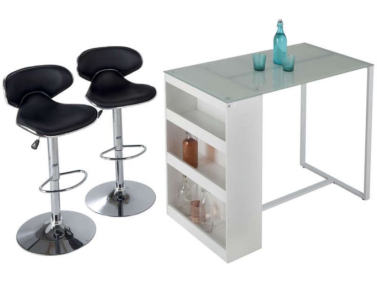 Table de bar lot de 2 tabourets tekila prix promo table - Table de cuisine chez conforama ...