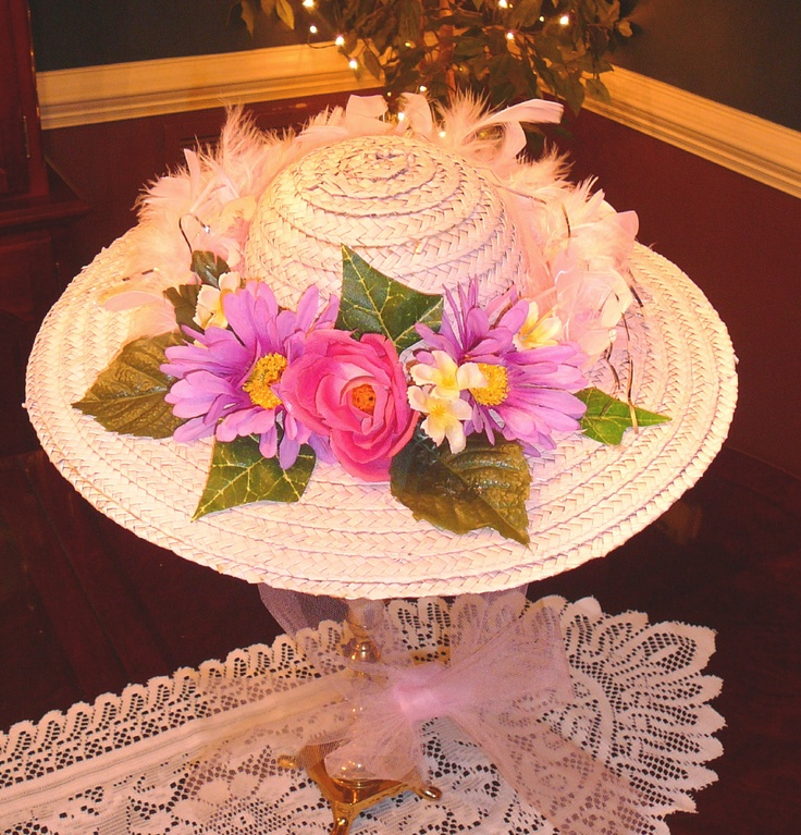 hat decorating ideas tea party