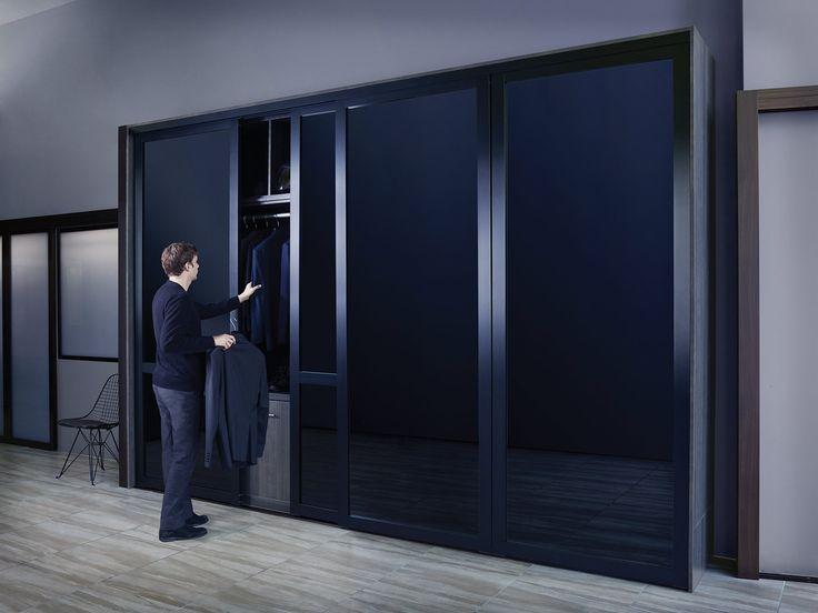 black glass sliding closet doors