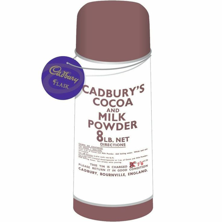 Cadbury's (Cocoa & Milk Powder) Vacuum Flask