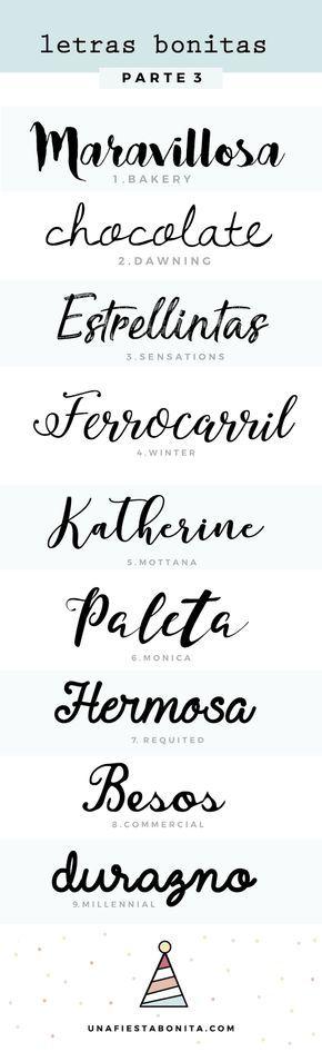 Tipos de letras para hacer cartelitos bonitos - Mi diamante azul