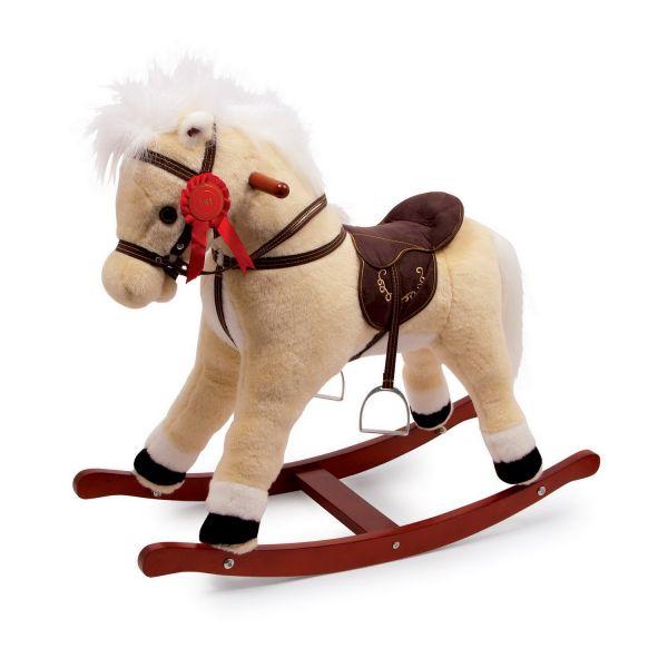 Base Toys hobbelpaard Melissa  Met Melissa haalt u een lief klein hobbelpaardje in huis. Base Toys hobbelpaard Melissa is een schattige pony waarmee je de eerste prijs mee binnen haalt. Drukt u op het oortje beweegd zijn mond en zal hij gaan hinniken.