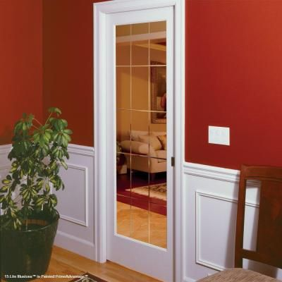 Feather river doors 15 lite illusions smooth 1 lite primed for 15 lite interior door home depot
