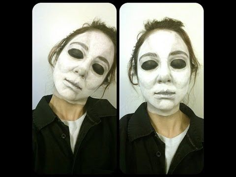 michael myers makeup look   youtube halloween