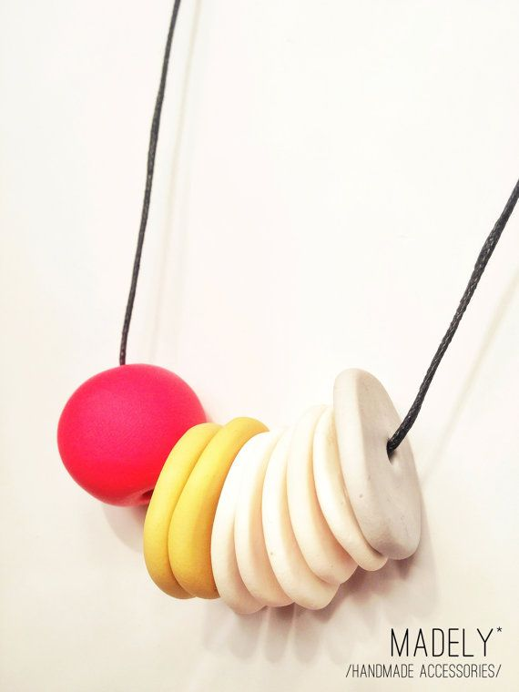 WHEN YOU DANCE / madely handmade necklace / mustard by Madely