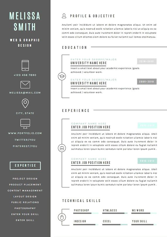 Resume Template 4 Pages Cv Template Cover Letter For Ms Etsy Cv Template Resume Template Resume Design