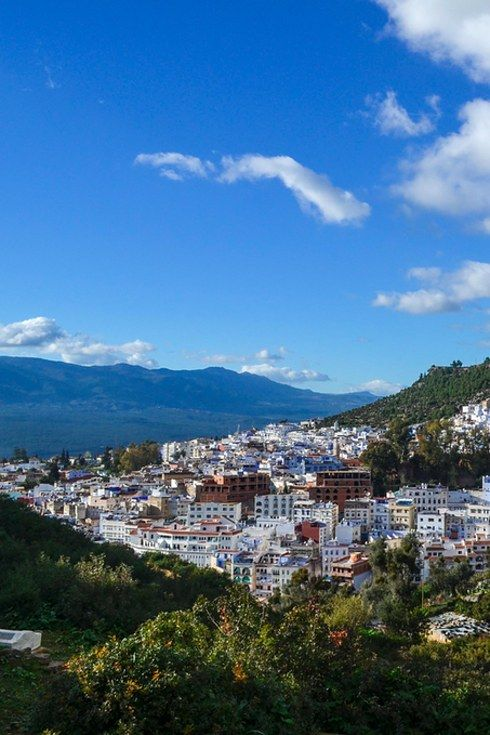 From the bright, vibrant spices lining the streets (and the plates!), to the soft blue palette that's woven throughout Chefchaouen's buildings and main pathways, it's one of Morocco's most picturesque towns.