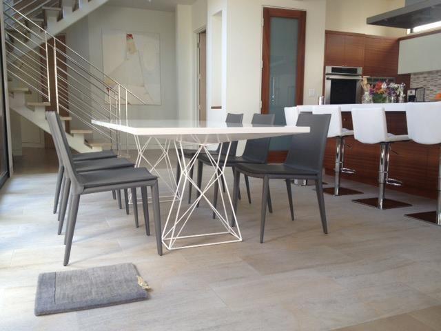 curzon dining table modloft white - Modloft