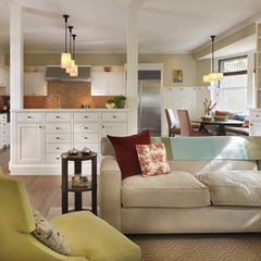 Half Wall Traditional Living Room By Rachel Reider Interiors