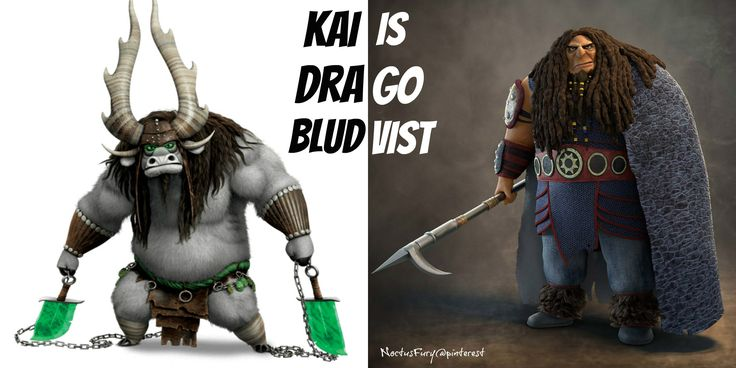 """When I watched Kung Fu Panda 3 I saw Kai and I was like, """"DRAGO?!?! WHAT ARE YOU DOING HERE?!"""" lol XD"""