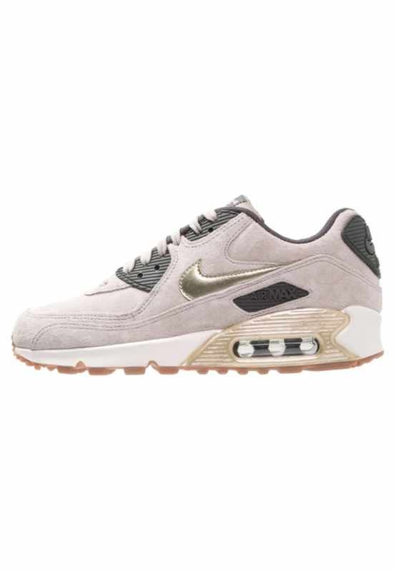 Nike Sportswear AIR MAX 90 PREMIUM - Trainers - string/metallic gold  green/dark storm/sail for with free delivery at Zalando