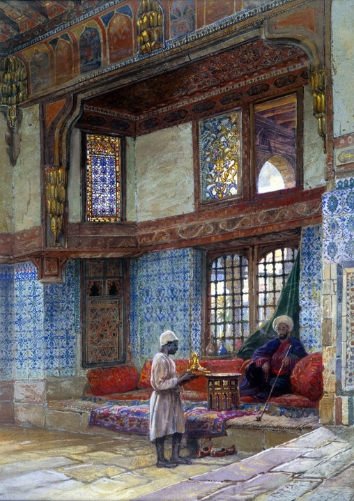 Interior of a house in Cairo - Frank Dillon