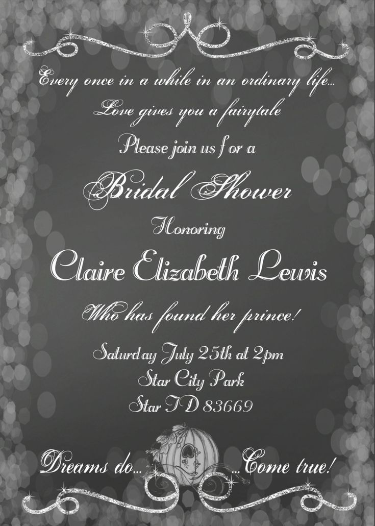 Cinderella Bridal Shower Invitation, Cinderella Wedding, Fairytale Wedding Invitation, announcement, wedding invitation, birthday card by UtopianSociety on Etsy