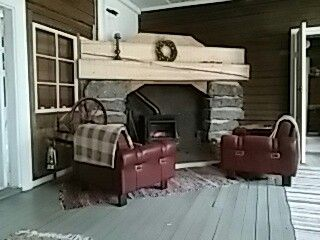 Pirtin fireplace.
