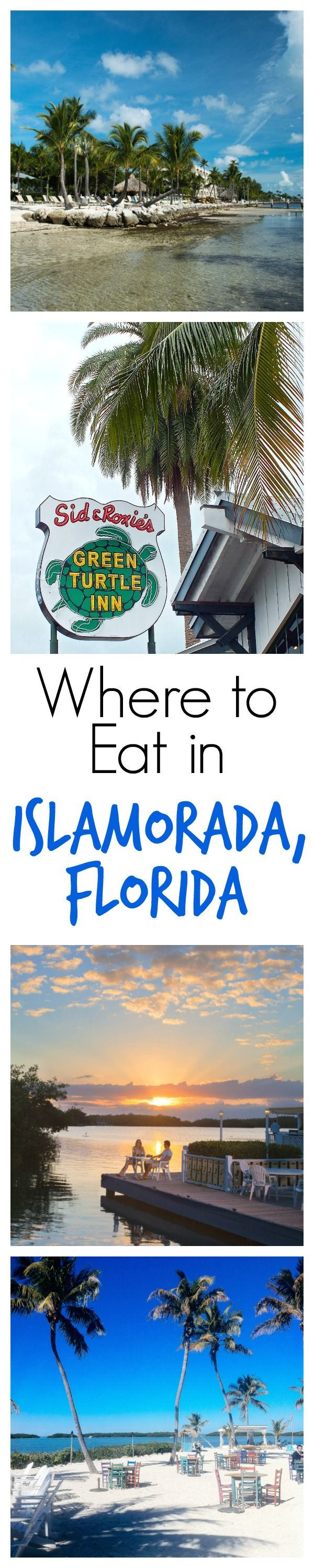 ISLAMORADA -- the best stop on the road trip from Miami to Key West. This pin has suggestions for where to eat for casual, fancy, or right in the sand!