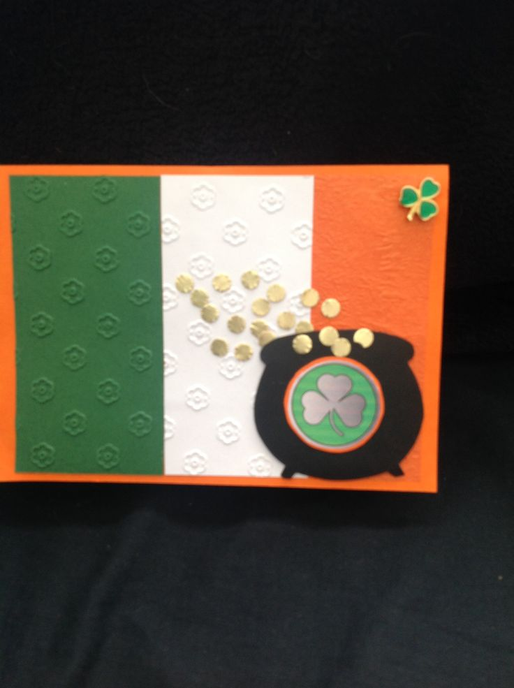 St pats day card(front)