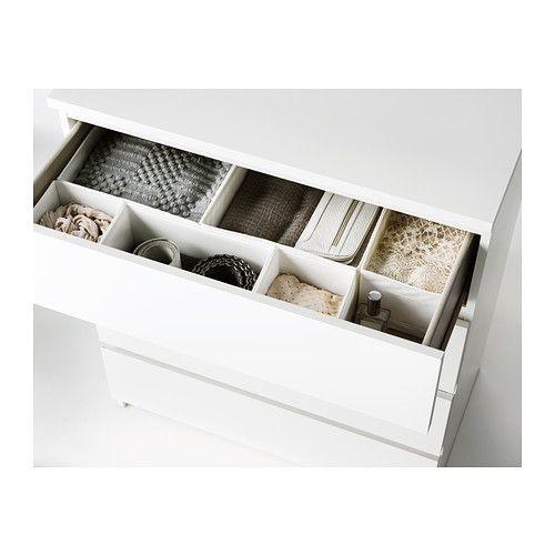 Malm commode 4 tiroirs blanc drawers running and smooth - Malm ikea comoda ...