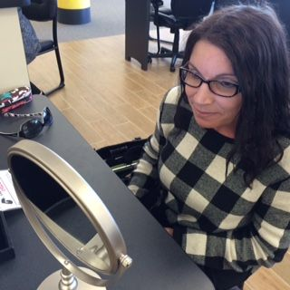 davis vision getting fitted for eyeglasses at