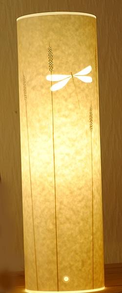 Dragonfly & Bullrush Lamp by Hannah Nunn