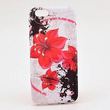 Red Amaryllis Pattern TPU Soft Veske til iPhone 5C – NOK kr. 31