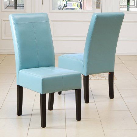 Noble House Maxwell T Stitch Teal Blue Leather Dining Chairs Set Of 2 Walmart Com Dining Chairs Parsons Dining Chairs Dining Room Teal