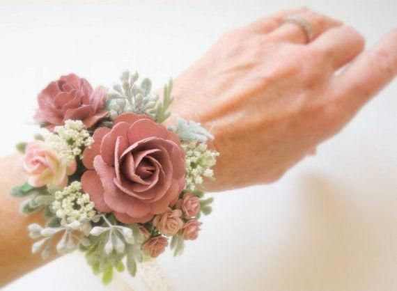 Dusty Mauve Boutonniere And Corsage Boho Wedding Prom