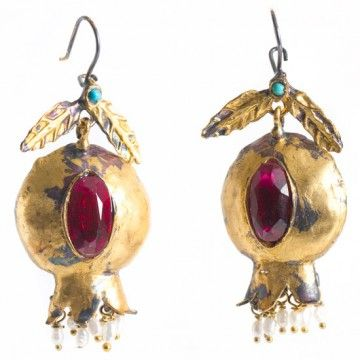 Pomegranate Multi Stone Statement Earrings z1muXl