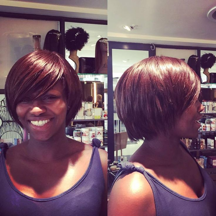 Stunning Midori transformation for a regular Midori client with a weave by Ndale and a cut and styling by Chantal!!