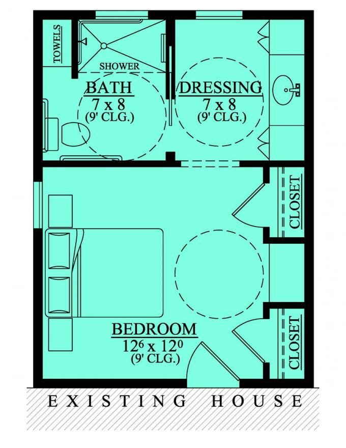 653681 wheelchair accessible mother in law bedroom for Floor plans for home additions