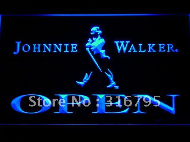 042-б Johnnie Walker ОТКРЫТОЕ Виски Бар LED Neon Sign с Включения/Выключения 7 Цветов на выбор