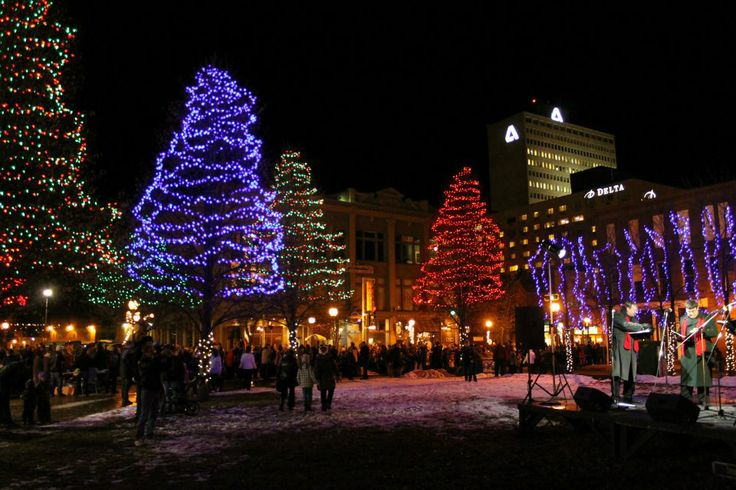 Moncton, New Brunswick Canada Christmas lights