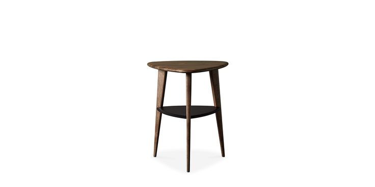 Swoon Editions side table, mid century-style in walnut and black - £149