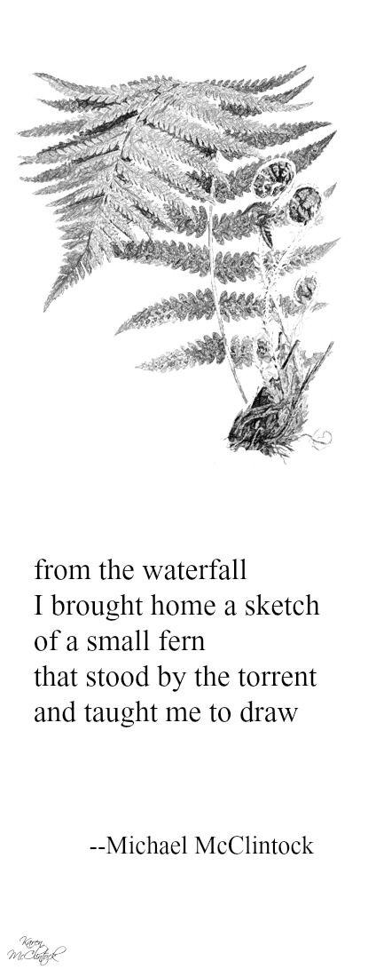 Tanka poem: from the waterfall -- by Michael McClintock.