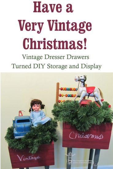 Vintage Dresser Drawers Turned DIY Storage and Display