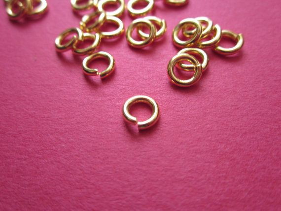 #6mm Bold Jump #Ring Gold plated 22ga http://etsy.me/1IaJCBC #jewelry #mount #brass #jewel #gem #bezel #setting #goldplated #gold #24k